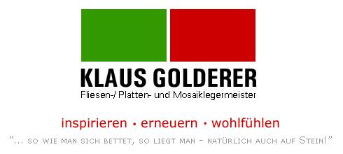 Klaus Golderer / Fliesen-, Platten-, Mosaiklegermeister